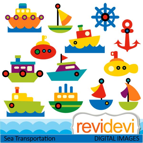 Sea Transportation Clipart.
