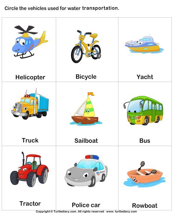Air Transport Clipart With Names.