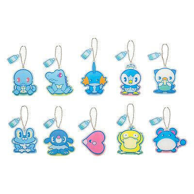 Acrylic Bag Charm 10 Full Set BOX Water type Pokemon Center Japan Original  4521329267609.