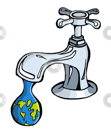 Water: limited resource2 stock vector.