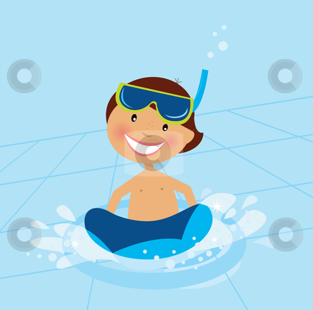 Swimming in the Water Clip Art.
