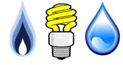 Electricity and water clipart.