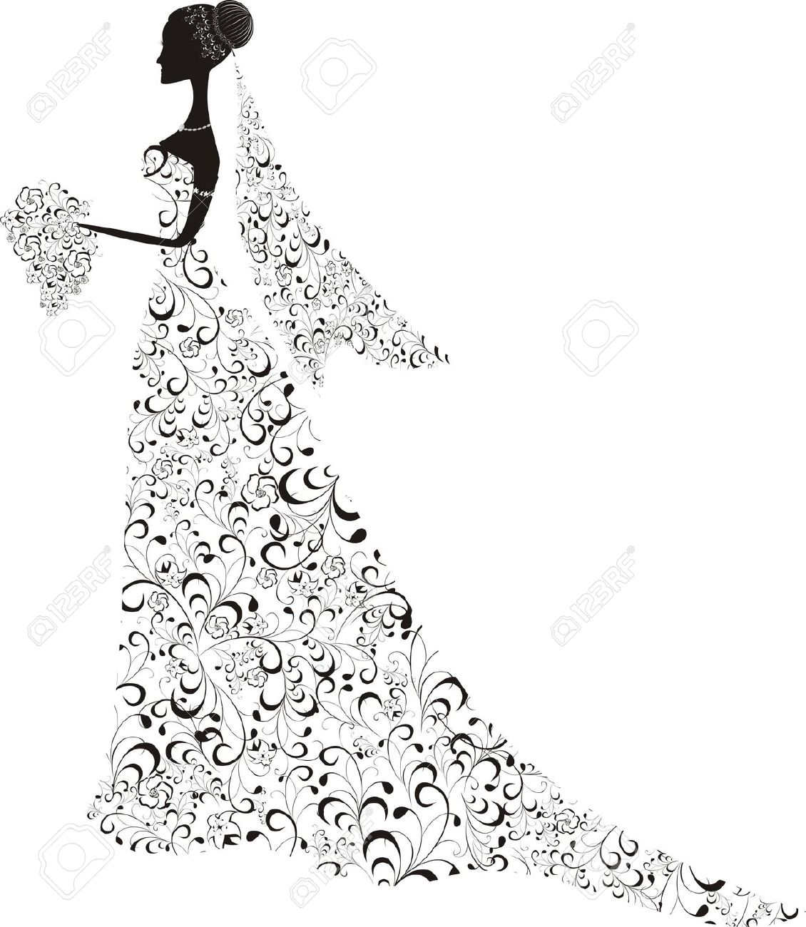 0 Pretty Veil Stock Vector Illustration And Royalty Free Pretty.