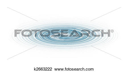 Clip Art of Abstract water vortex k2663222.