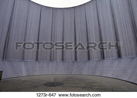 Picture of Water Wall Monument, Houston, Texas, USA 1273r.