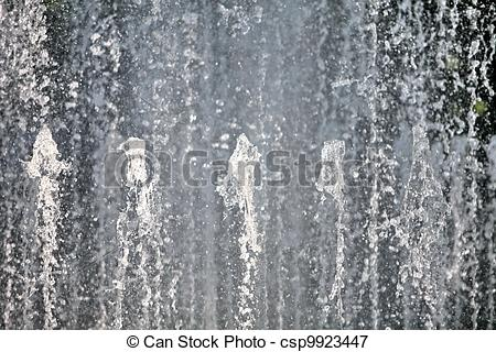 Picture of Water wall fountains from spouting vertical background.