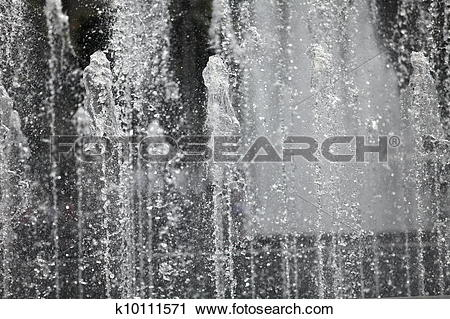 Stock Photography of Water wall fountains k10111571.
