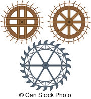Water wheel Clipart Vector Graphics. 3,115 Water wheel EPS clip.