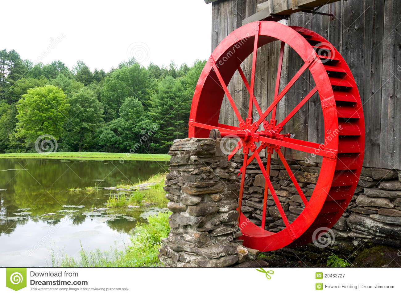 Water Wheel And Mill Royalty Free Stock Photo.