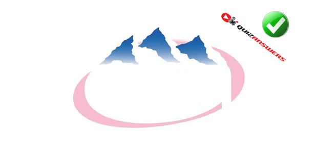 Pink Water with Mountains Logo.