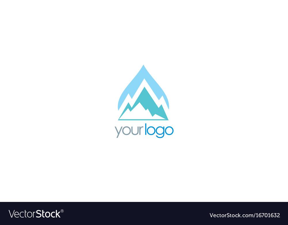 Mountain water logo.