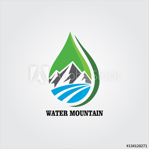 water mountain logo.