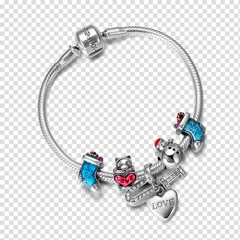 Charm bracelet Jewellery Gift Bead, through the heart of.