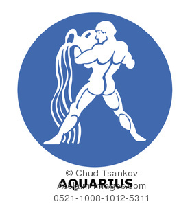 Aquarius the Water Bearer Clipart Image.