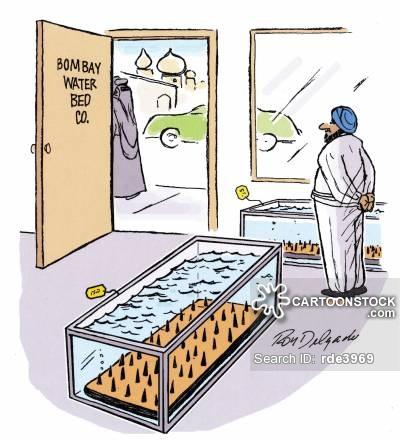Water Bed Cartoons and Comics.