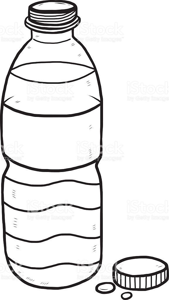 Water Bottle Clipart Black.