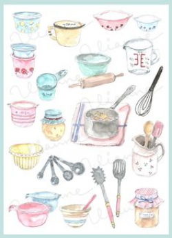 Baking clipart watercolor, Picture #71871 baking clipart.