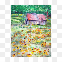 Watercolor Barn PNG and Watercolor Barn Transparent Clipart.