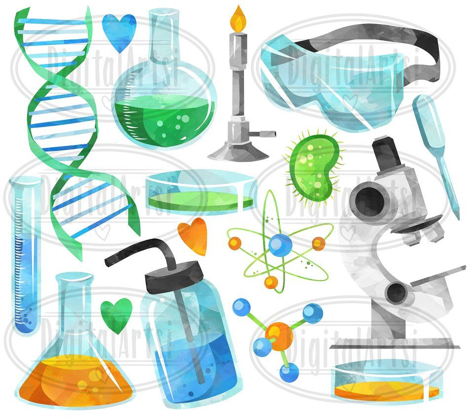 Watercolor Science Clipart #Included#Purposes#ZIP#package.