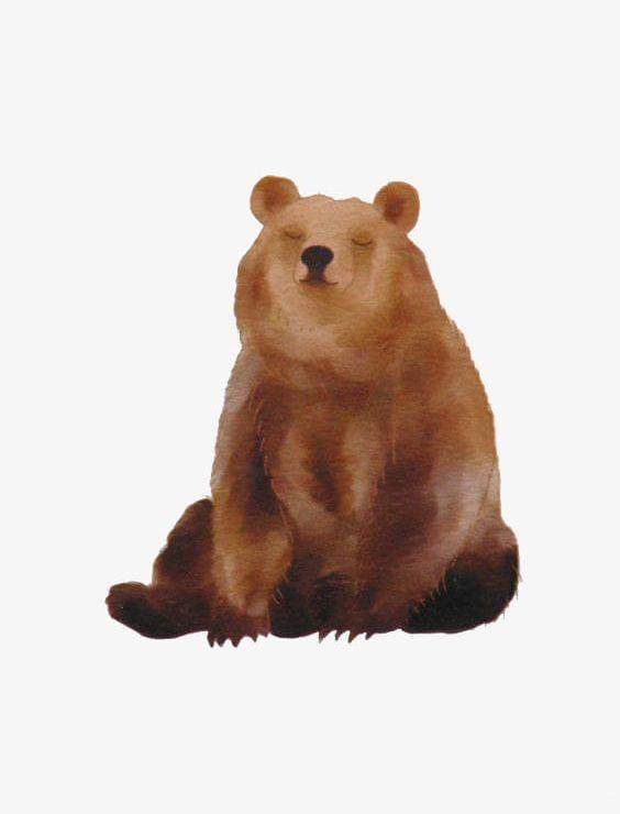 Watercolor Bears PNG, Clipart, Animal, Bear, Bear.