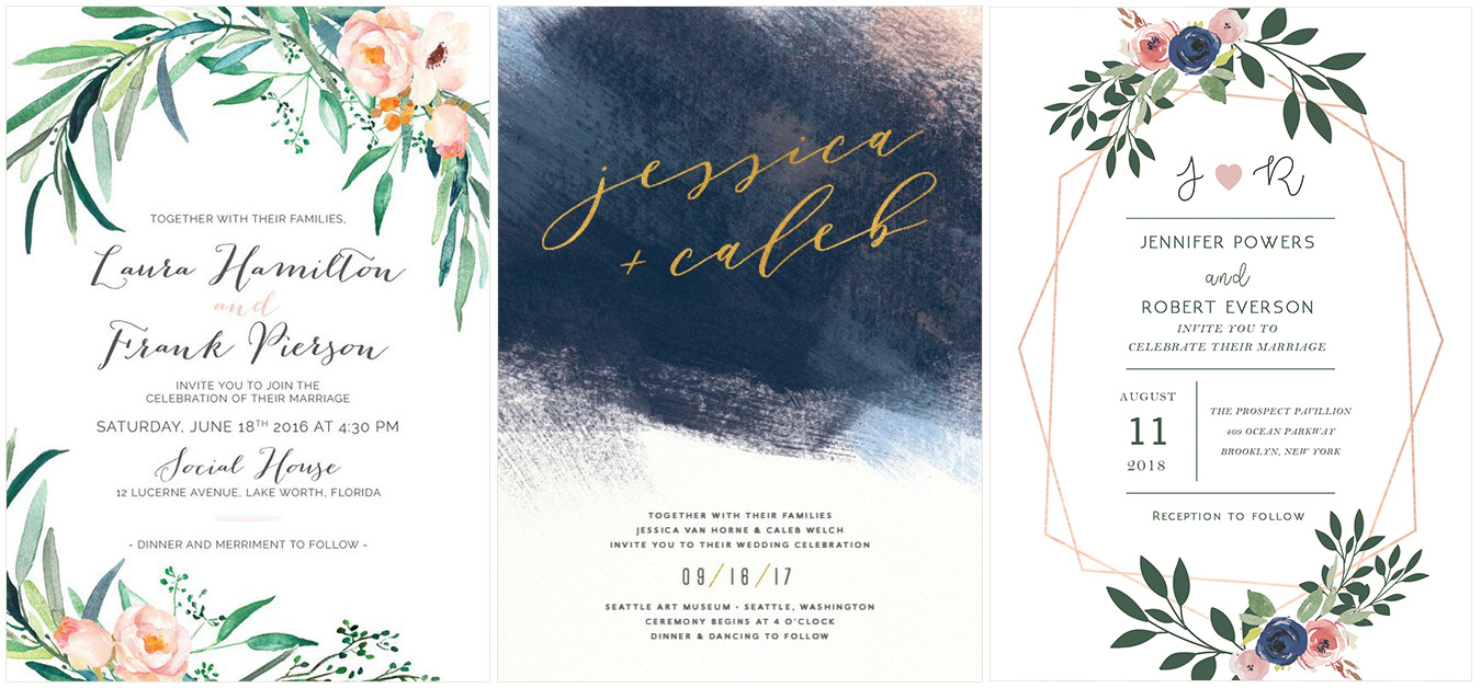watercolor wedding invites.