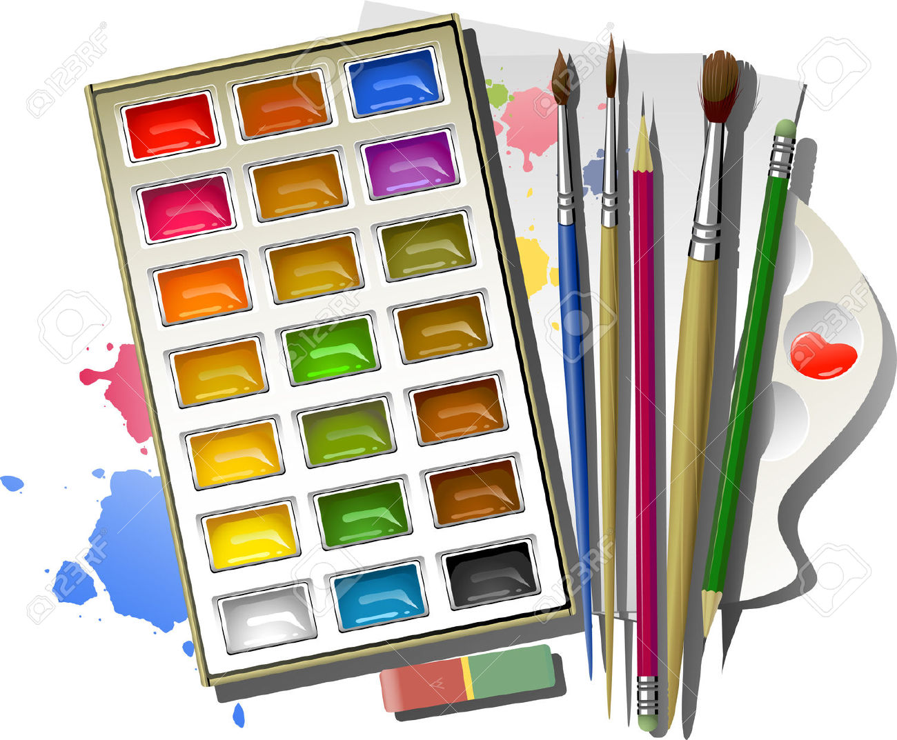 Water Paint Clipart.