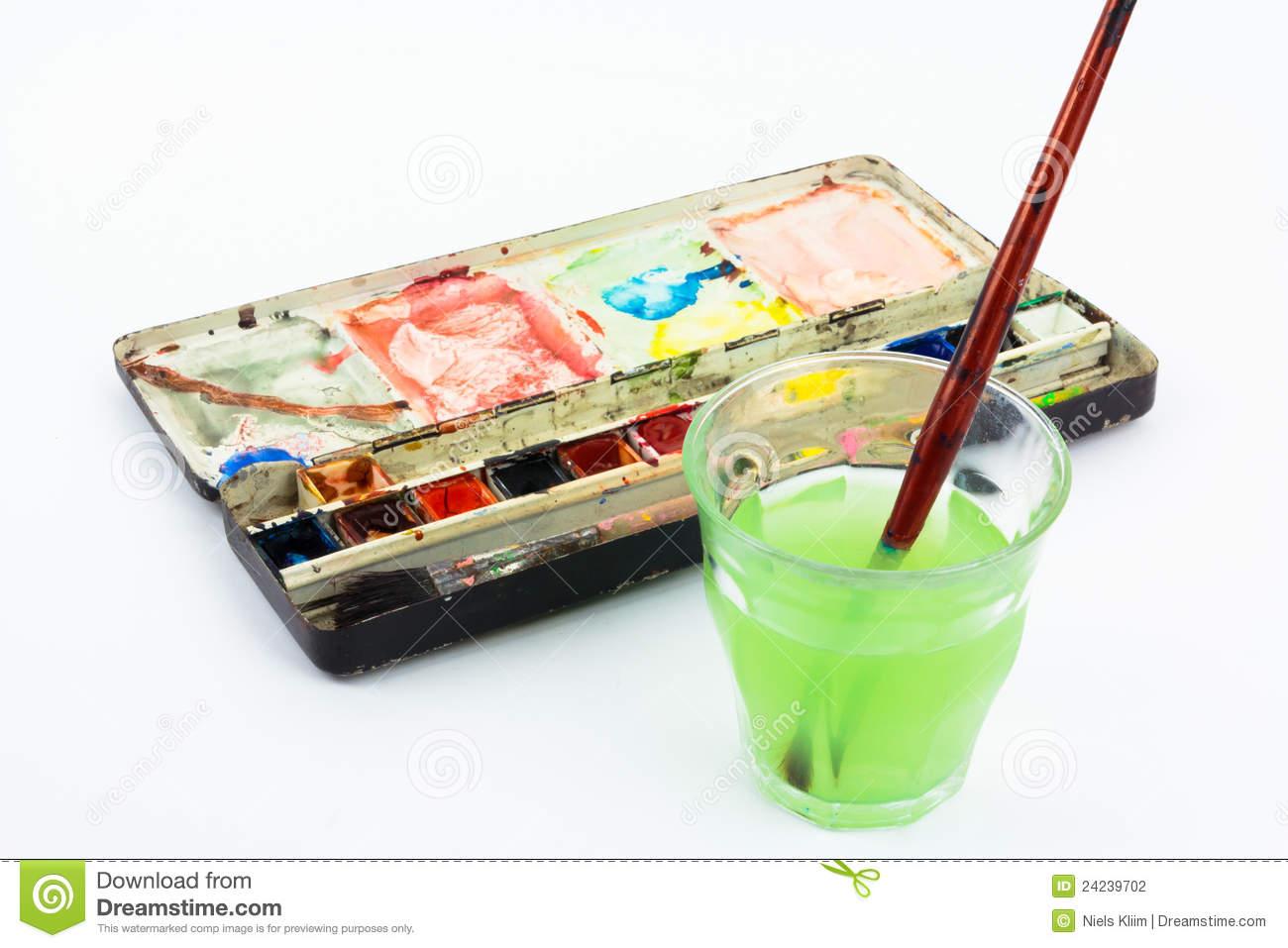 Watercolor Box Royalty Free Stock Photos.
