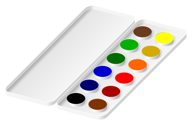 Gallery For > Paint Brush and Watercolor Clipart.