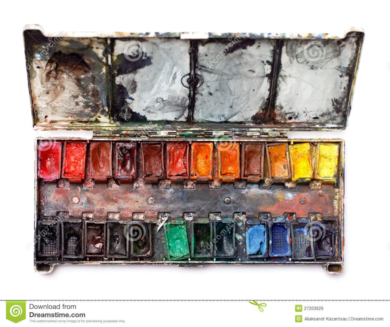 Watercolor Paint Box Royalty Free Stock Images.