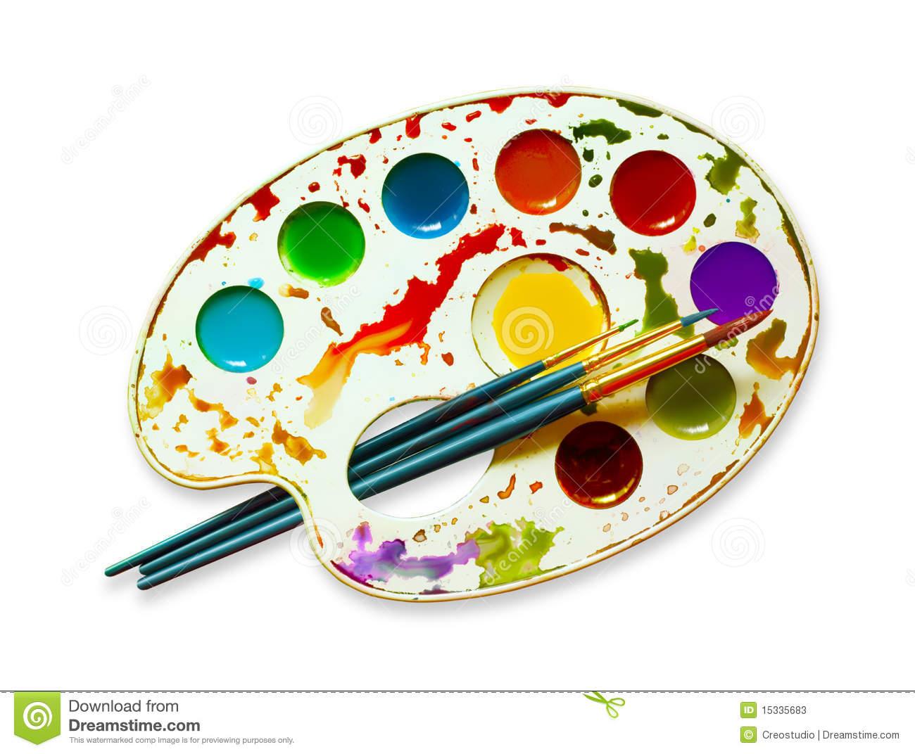 Watercolour Palette Stock Illustrations.