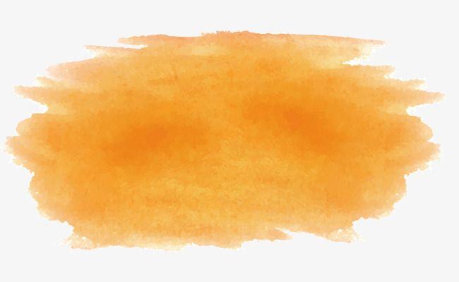 Orange Watercolor Brush, Vector Png, Brush, Watercolor Brush.