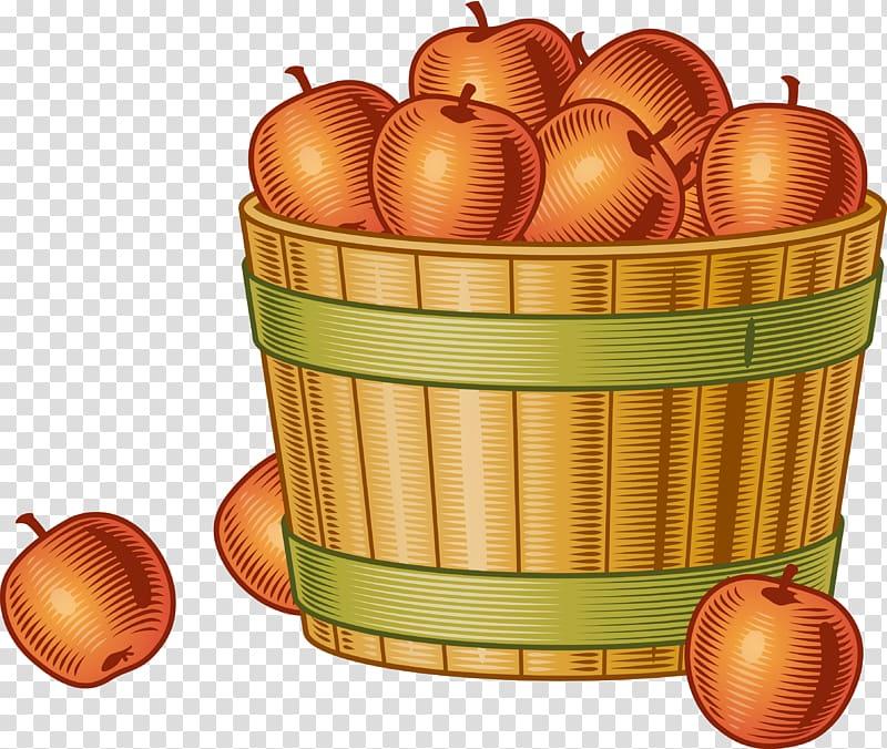 Harvest Fruit picking Bushel , basket of apples transparent.