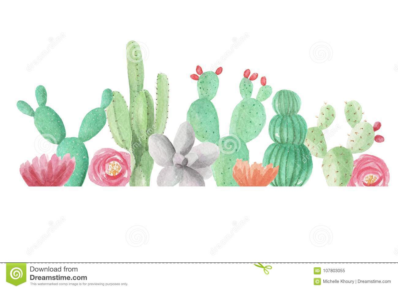 Free watercolor cactus clipart 3 » Clipart Station.