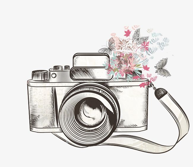 Flower Camera, Camera Clipart, Flower Clipart, One PNG.