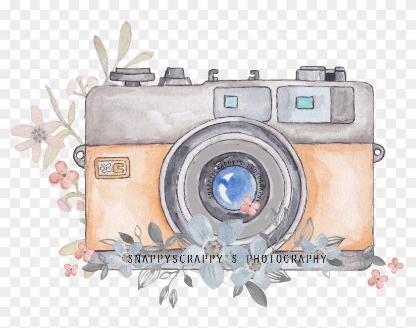 Camera Clipart Watercolor.