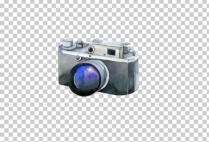 Digital Camera Watercolor Painting Photographer PNG, Clipart.