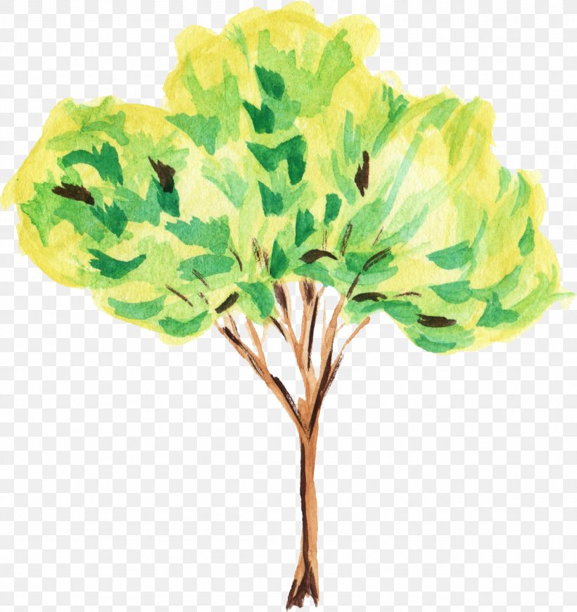 Tree Watercolor Painting Art Clip Art, PNG, 1281x1359px.