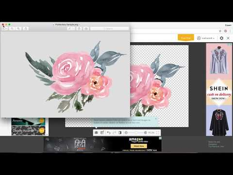 How to Create a Digital Watercolor Bouquet on PicMonkey.