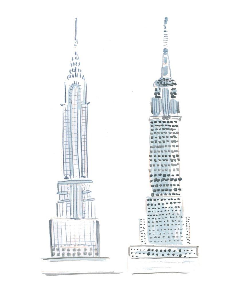 New York City Watercolor Digital Clip Art Collection.