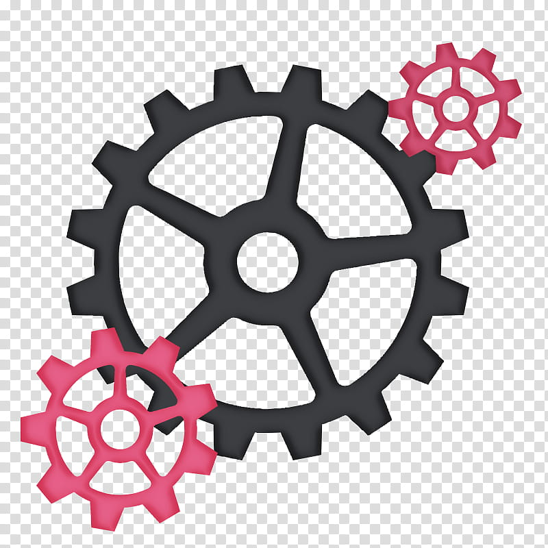 Formas, pink and black sprockets transparent background PNG.