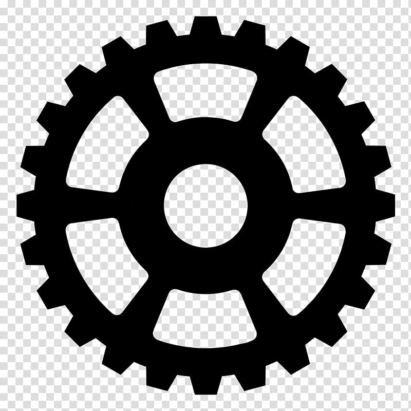 Black sprocket art transparent background PNG clipart.