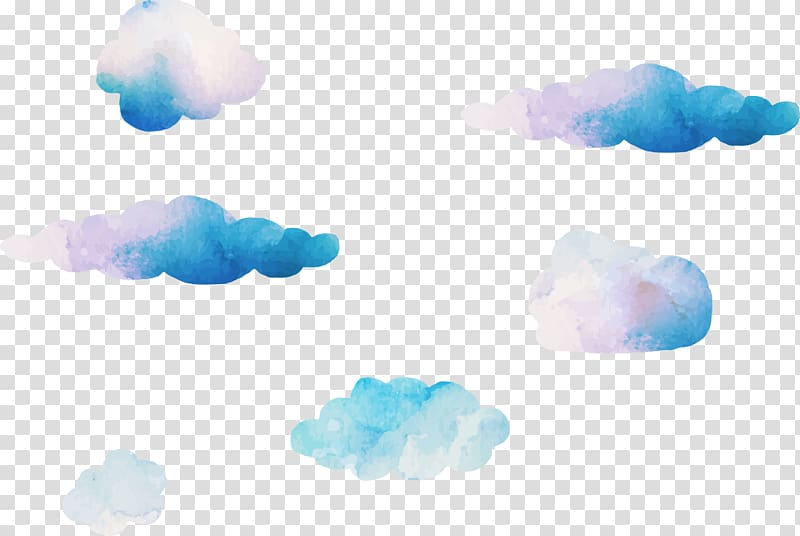 Blue Sky Cloud Computer , Dream watercolor clouds , clouds.