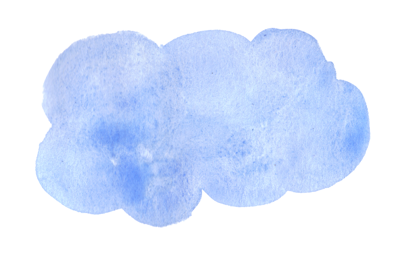 Watercolor Cloud Clipart.