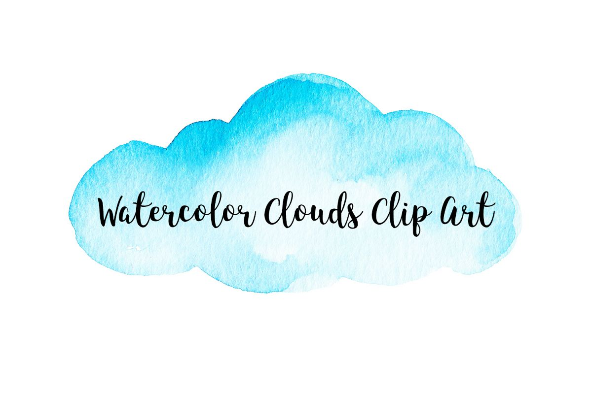 Watercolor Clouds Clip Art, Watercolor Clouds PNG.