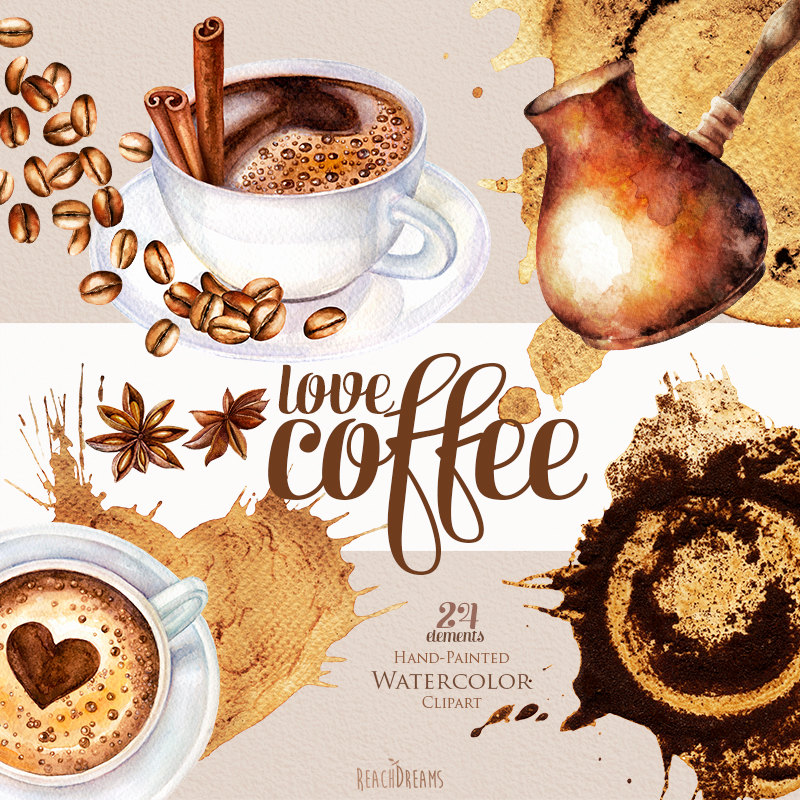 Free Coffee Watercolor Cliparts, Download Free Clip Art.