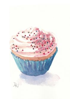 Free Watercolor Cupcake Cliparts, Download Free Clip Art.