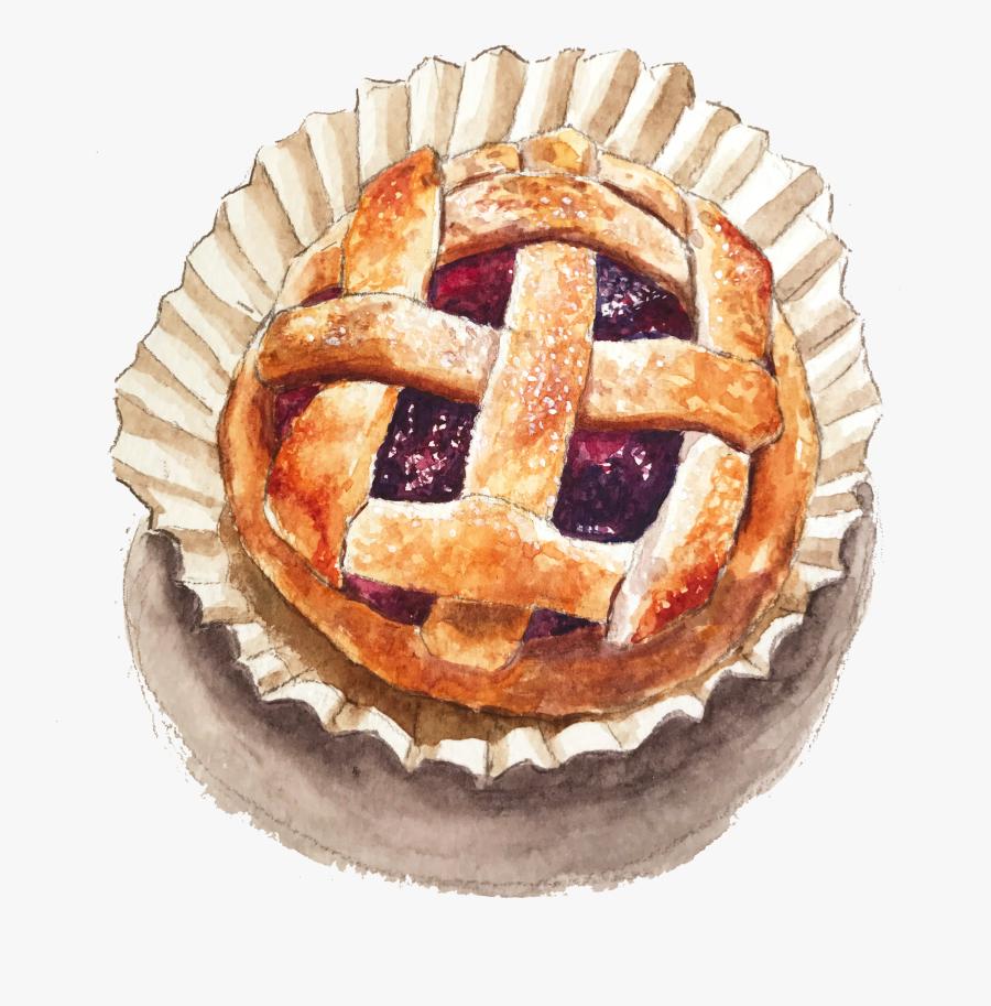 Pie Watercolor Png.