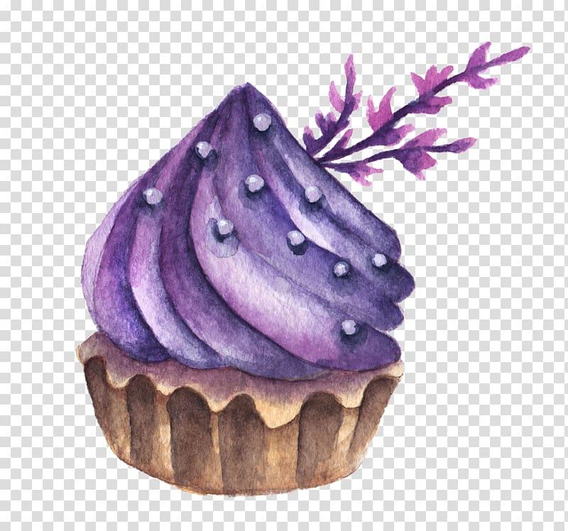 Macaron Macaroon Watercolor painting Dessert Cake, Purple.