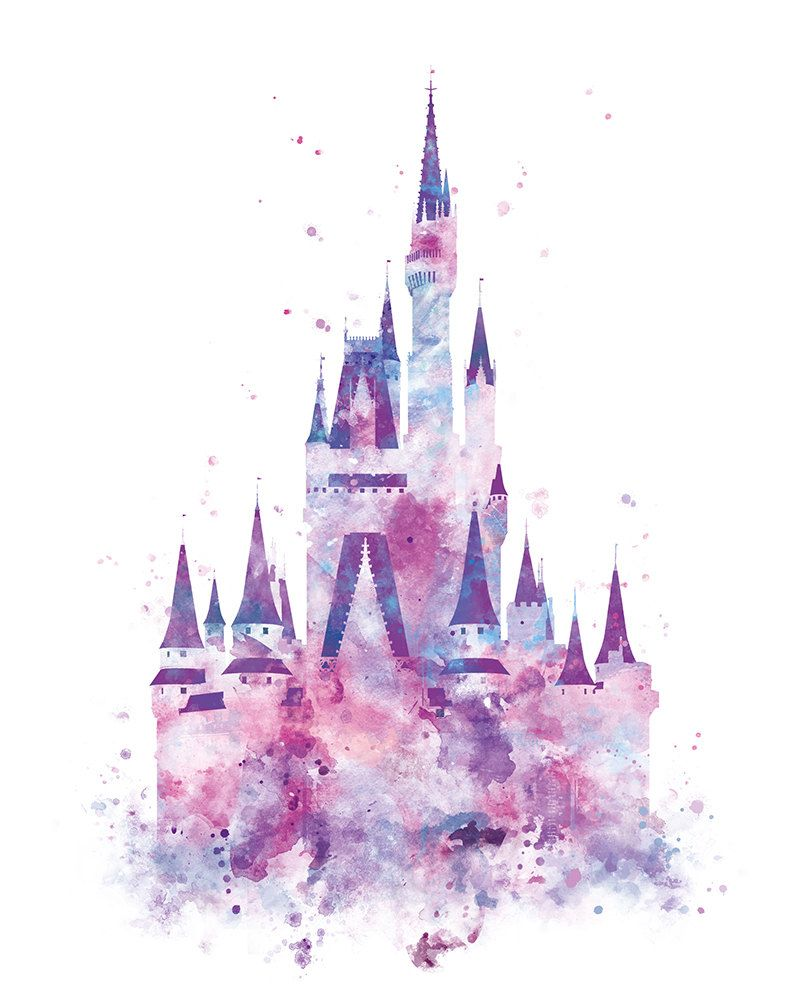 Disney Castle Watercolor at PaintingValley.com.