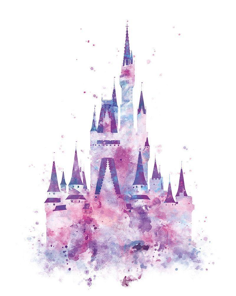 Disney Castle Watercolor at PaintingValley.com.